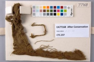 Fragment EA77168 after conservation©University of Glasgow and British Museum