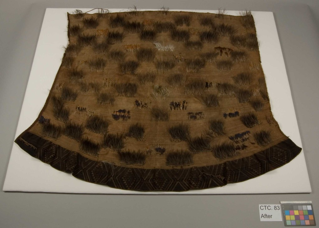 Māori cloak, or kākahu after conservation (GLAHM E.422) © University of Glasgow