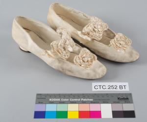 19th Century Wedding Slippers Before Conservation © CSG CIC Glasgow Museums Collection.