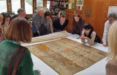 Jing shares her doctoral research findings for a Ming Dynasty dragon cloud silk tapestry in the Burrell Collection, ©CSG CIC Glasgow Museums Collection and University of Glasgow.