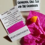 The audience 'goody bag' with a piece of coal tar soap and magenta-dyed silk for a take-home citizen science experiment © Anita Quye, University of Glasgow.